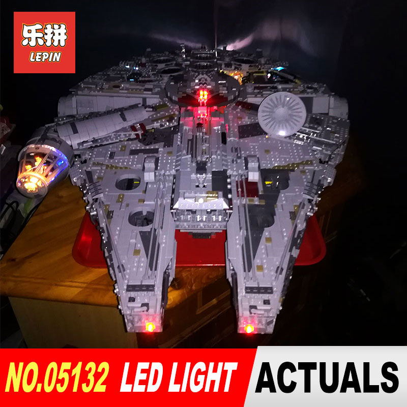 Led lumière kit Lepin 05132 Compatible 75192 Étoiles Guerre Faucon Millenium Modèle de Blocs De Construction Jouets (pas inclure blocs ensemble)