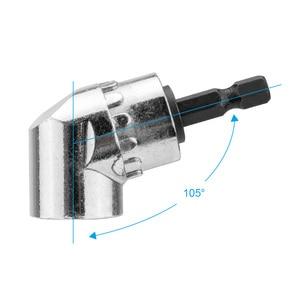 Image 3 - 105 Degree Angle Screwdriver Set Socket Holder Adapter Adjustable Bits Drill Bit Angle Screw Driver Tool 1/4inch Hex Bit Socket