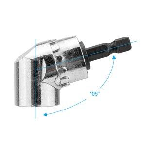 Image 3 - Ângulo de 105 graus conjunto chave de fenda soquete titular adaptador bits ajustáveis broca ângulo parafuso driver ferramenta 1/4 polegada hex bit soquete