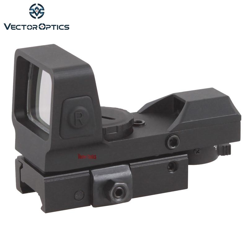 Vector Optics Sable 1x25x34 Tactical 4 Reticles Green Red Dot Sight Quick Release Digital Control Gun