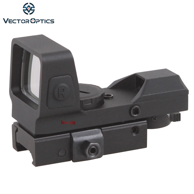 Vector Optics Sable 1x25x34 Tactical 4 Reticles Green Red Dot Sight Quick Release Digital Control Gun Scope QD Weaver Mount vector optics rayman 1x30 tactical 21mm weaver rise mount red laser gun reflex red dot sight scope
