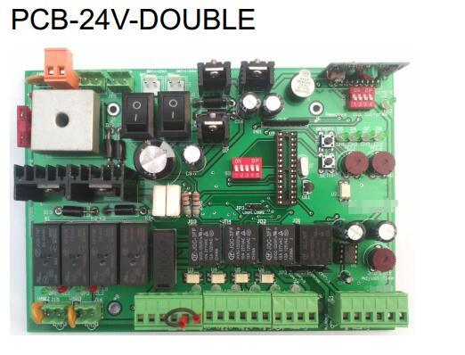 DC 24 V tension d'entrée double panneau de commande + électrique 24VDC ouvre-porte moteur électrique serrure + extérieur étanche swing Lock