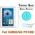 """Premium 2.5d 9 h vidrio templado protector de pantalla de la película protectora para samsung galaxy tab 2 note p5100 n8000 10.1 """"película de pantalla transparente"""