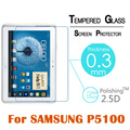 "Premium Tempered Glass Screen Protector 2.5D 9H Protective Film for Samsung Galaxy Tab 2 Note P5100 N8000 10.1""Film Clear Screen"