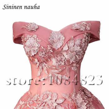 Pink Short Prom Dress Party Dresses for Juniors Women 2019 Off The Shoulder A Line Appliques Plus Size Vestidos De Festa 283