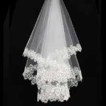 wedding accessories short bridal veils without comb White la