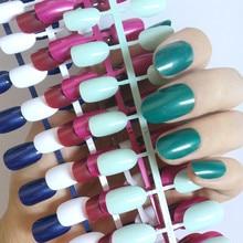 Oval Top Acrylic Fake Nails Dark Green Purple False Nails DIY Nail Art Press On Nail Manicure Tools 240 pcs/ lot 24 pcs chic leopard pattern nail art false nails