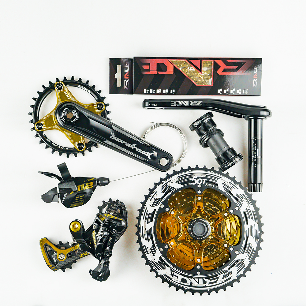 ZRACE x LTWOO AT12 12 Speed Crankset + Shifter + Rear Derailleur 12s + Alpha Cassette 52T / Chainring + Chain,  EAGLE GX / M9100