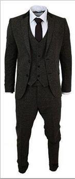 Latest Coat Pant Designs Grey Tweed  Prom Men Suit Slim Fit 3 Piece Groom Tuxedo Custom Blazer Terno Masculino Jacket+Pant+Vest