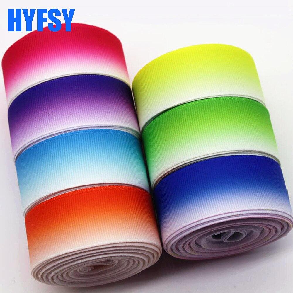 Hyfsy 10080 25 мм брюки лента 10 ярдов DIY головные уборы подарочная упаковка ручной работы материалы ленты в крупный рубчик