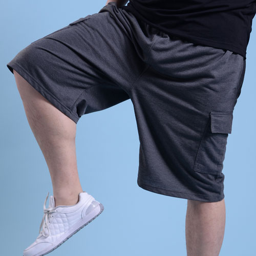 ФОТО Oversized Male Shorts Leisure Loose Shorts in Summer Heavy Plus-size Yards Shorts