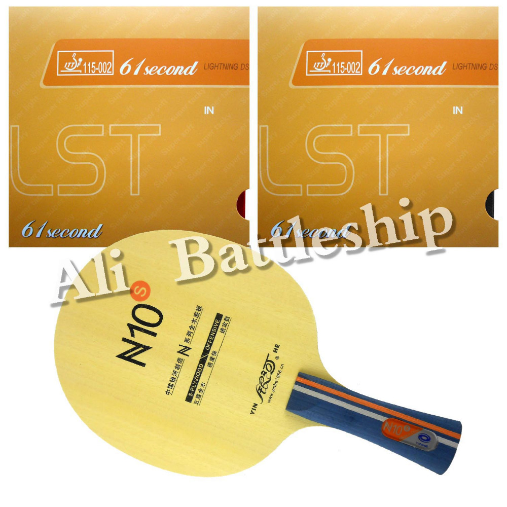 Original Galaxy YINHE N10s Table Tennis Blade with 2x 61second Lightning DS LST Rubbers Long Shakehand FL galaxy yinhe emery paper racket ep 150 sandpaper table tennis paddle long shakehand st