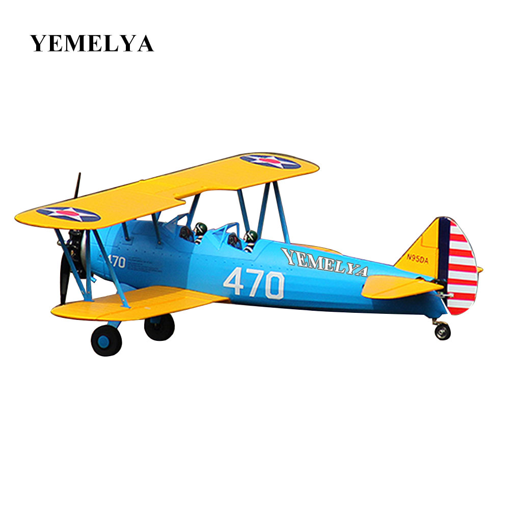 PT-17 Trainer Remote Control Aircraft Aeromodelling 4 CH 2.4GHz Stearman PT-17 RC Bi-Plane Airplane PNP and KIT pt 17 trainer remote control aircraft aeromodelling 4 ch 2 4ghz stearman pt 17 rc bi plane airplane pnp and kit