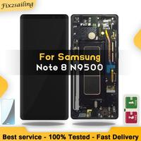 New 6.3 SUPER AMOLED Display For SAMSUNG Galaxy NOTE8 LCD N950 N950F Display Touch Screen Replacement Parts With Frame