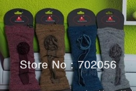 New arrival Solid Flower design leg warmers LEG Boot CORVER Sexy Socks 20 pairs/lot #2451