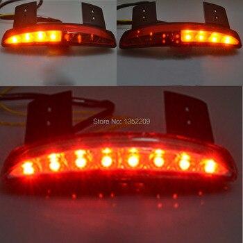עשן קצוץ פגוש קצה LED זנב אור ולהפוך אות Fit עבור הארלי Sportster XL883 1200 48 ברזל Nightster מותאם אישית