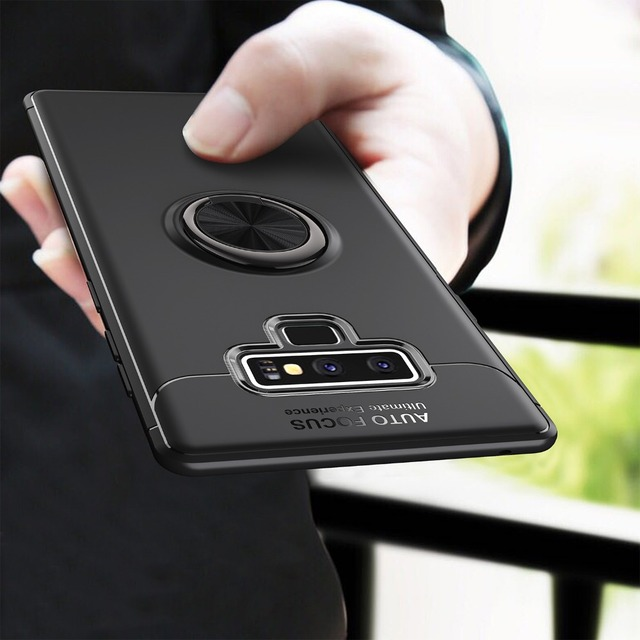 timeless design 5e277 7b13e US $4.99 |For Samsung Galaxy Note 9 Case Car Holder Stand Magnetic Bracket  Finger Ring TPU Case For Samsung Galaxy Note 9 Phone Cover-in Fitted Cases  ...