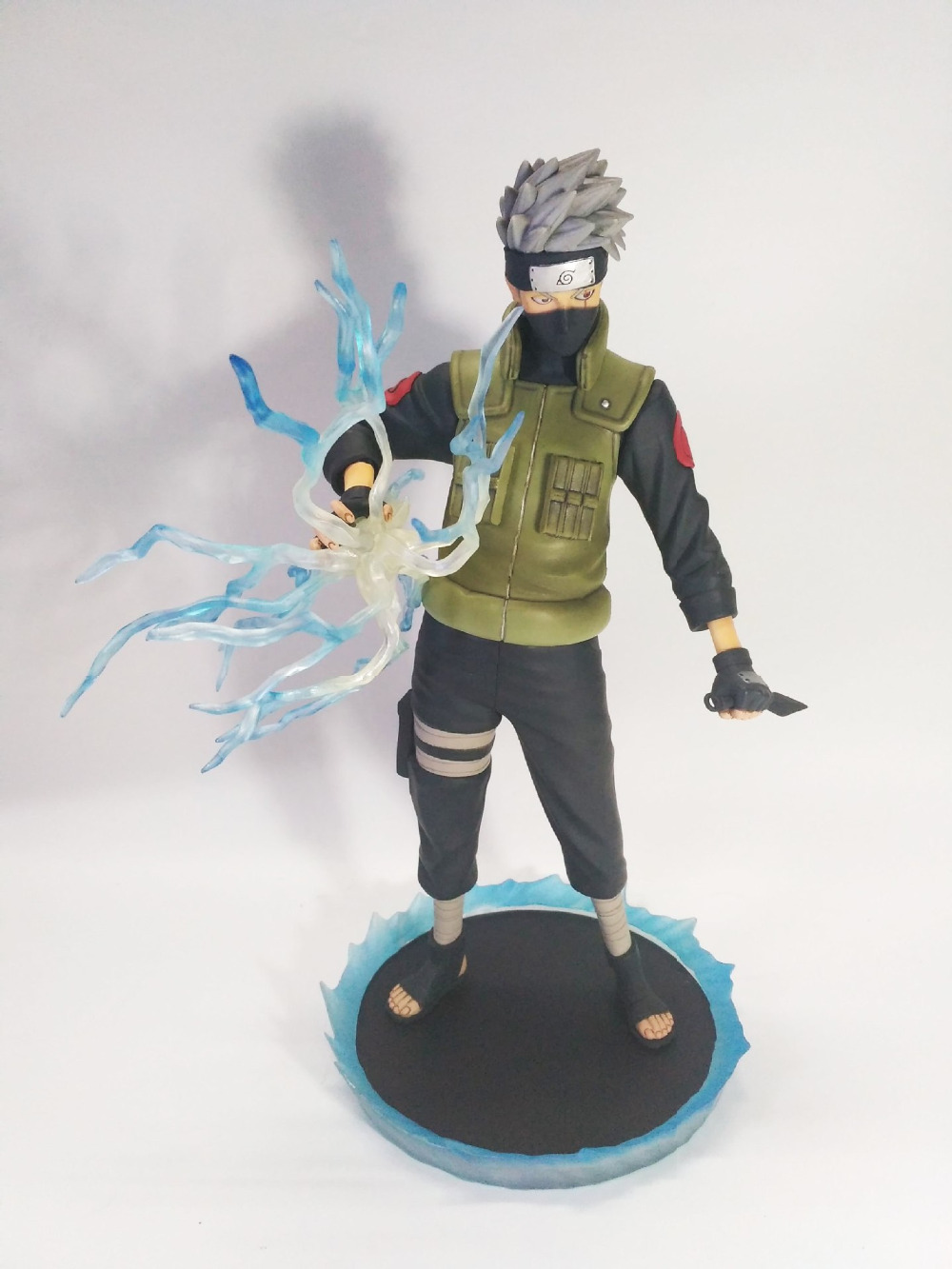 Huong Anime Figure 30 CM Naruto Shippuden Hatake Kakashi PVC Action Figure Toy Collectibles Model Doll original box anime naruto action figures lightning blade hatake kakashi figure pvc model 12cm collection children baby kids toys