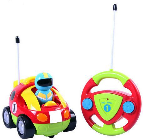 Cartoon R/C Race Car Radio Control Toy for Toddlers and Kids by Litchi