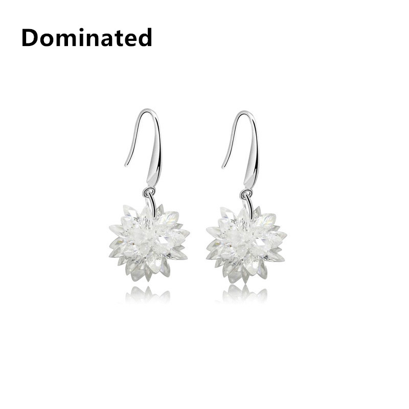 2016 New Long Temperament Female Sweet Ice Crystal Earring