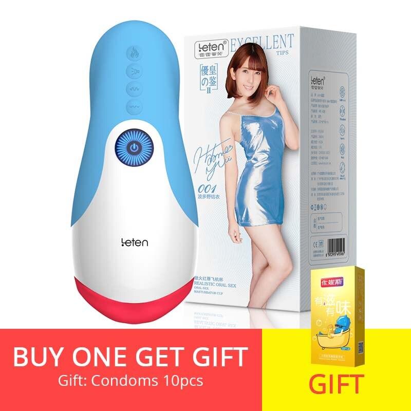 Bodypro Leten Oral Sex Male Masturbation Cup pre Heating Tongue Vibrating Deep throat Oral Sex Toys