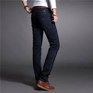Image 3 - 2017 Autumn Winter Thicken Smart Casual Jeans Men Fashion Denim Trousers Brand Clothing 30 42 Jeans 327B