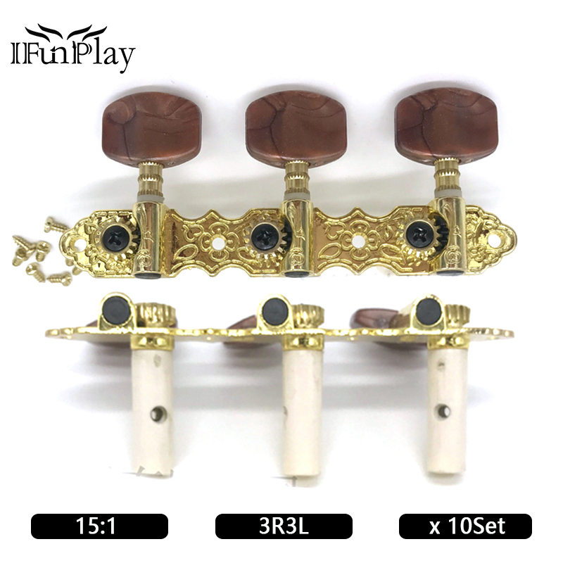 10set metal classic guitar locking tuners string tuning pegs machine head agate pegs for guitar. Black Bedroom Furniture Sets. Home Design Ideas
