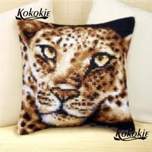 DIY needle animal cushion mat embroidery yarn pillowcase Counted pillow kits