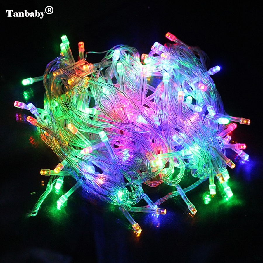 10m 50m 100m Waterproof 110V/220V holiday String lights for Christmas Festival Party Fairy Colorful Xmas LED String Lights
