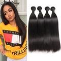 New Women Fashion Peruvian Virgin Hair Straight 4 Bundles 10A Queen Weave Beauty Hair Bundles Top Straight Human Hair Extensions