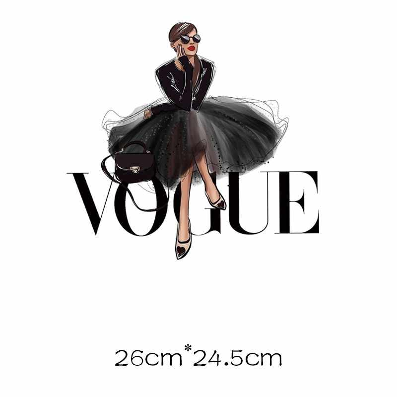 Thời Trang Vogue Nhiệt Miếng Dán Sắt Trên Chuyển Cho Quần Áo Sọc Nhiệt Dán Trên Quần Áo Truyền Nhiệt Dán