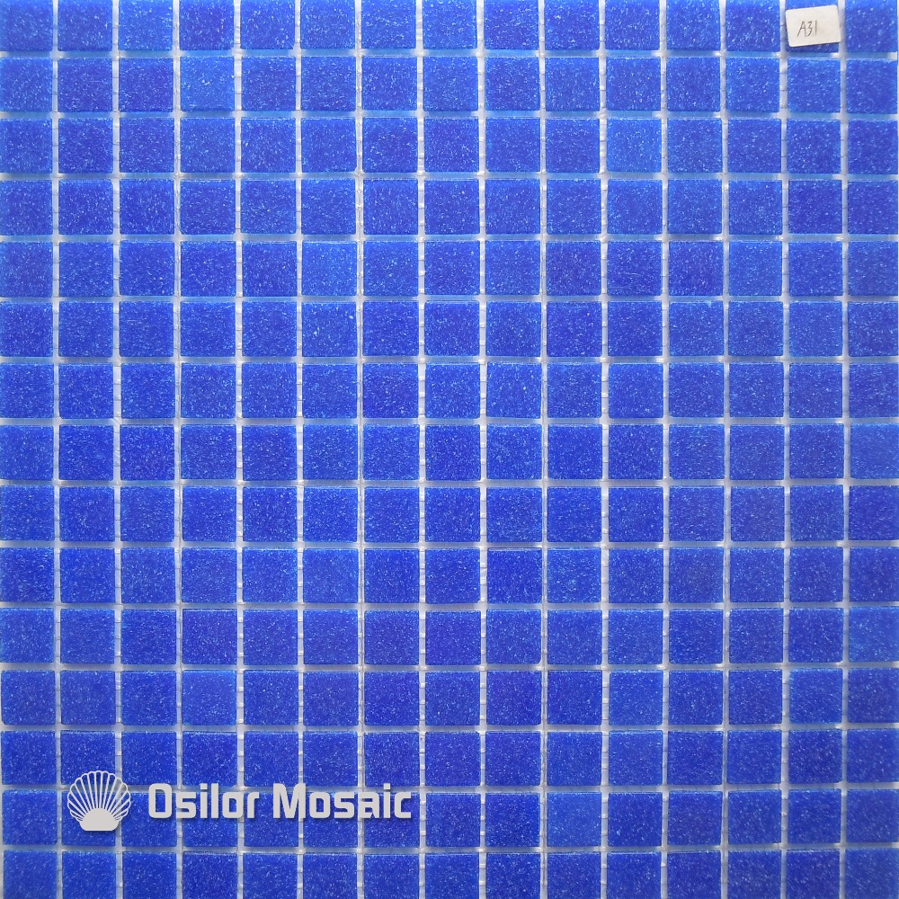 ⓪Free shipping deep blue glass mosaic tile outdoor wall tile floor ...