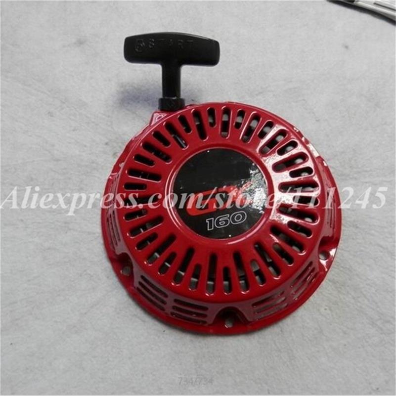 PREMIUM RECOIL STARTER STEEL ROD FOR HONDA GX160 GX200 E* 2500 2600 1800 2KW GENERATOR PULL START REWIND ROPE HANDLE ASSEMBLY recoil start pull starter assembly generator w cup for honda gx120 gx160 gx200 chainsaw honda 28400 zh8 013ya 28400 zh8 013za
