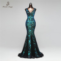Poems Songs 2019 Elegant Mermaid Sequin Dresses vestido de festa Sexy Backless dress robe longue Party Maxi Dresses women dress
