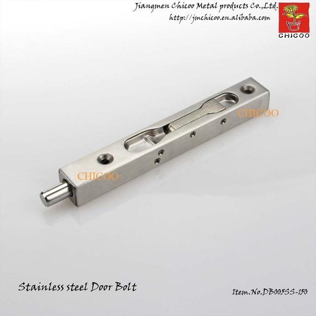 Whollesale 10 peças 6 polegada 304 en acier inoxydable loquet levier Flush BOX glisser Door Lock Bolt 20 mm large doorbolt