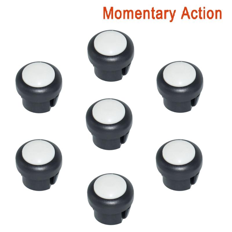 7 x кнопка включения мотоцикла сигнал поворота Высокий Низкий Луч Электрический старт Kill ON OFF кнопки мгновенного действия с фиксацией - Цвет: White B