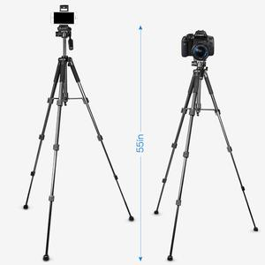 Image 3 - 55inch Phone/Camera Tripod Professional Portable Travel Aluminum Tripode with Phone Holder for iPhone iPad Mobile Dslr Movil