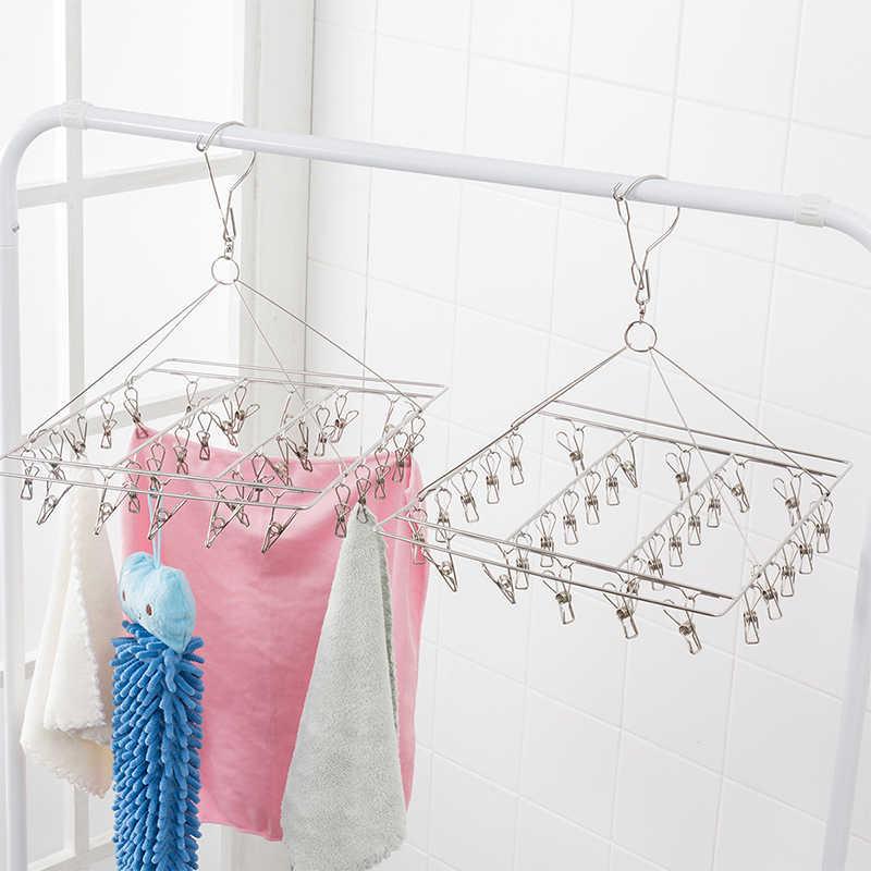 ОРЗ 30 прищепки для носков нижнего белья одежда подвесная сушилка для одежды Нержавеющаясталь вешалки для одежды вешалка для шляп напольная сушилка для белья