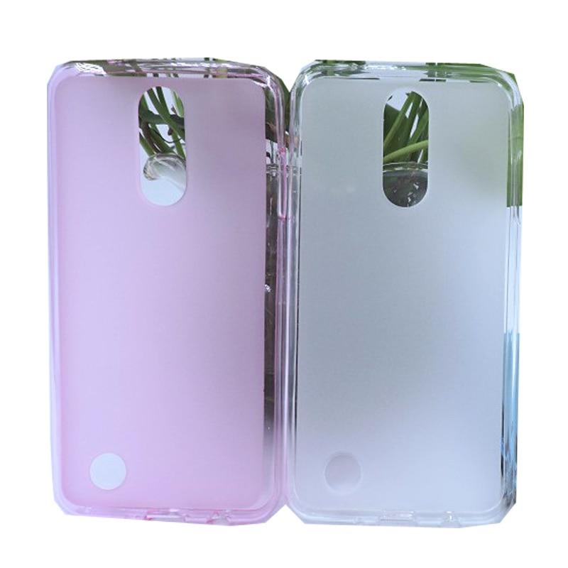 imágenes para Para LG K8 2017 K4 5.0 ''Pudding caso Claro de Tpu Suave Coque Cristal ultrafino Helada Mate Transparente Cubierta de Silicona de Nuevo Hombre Dama
