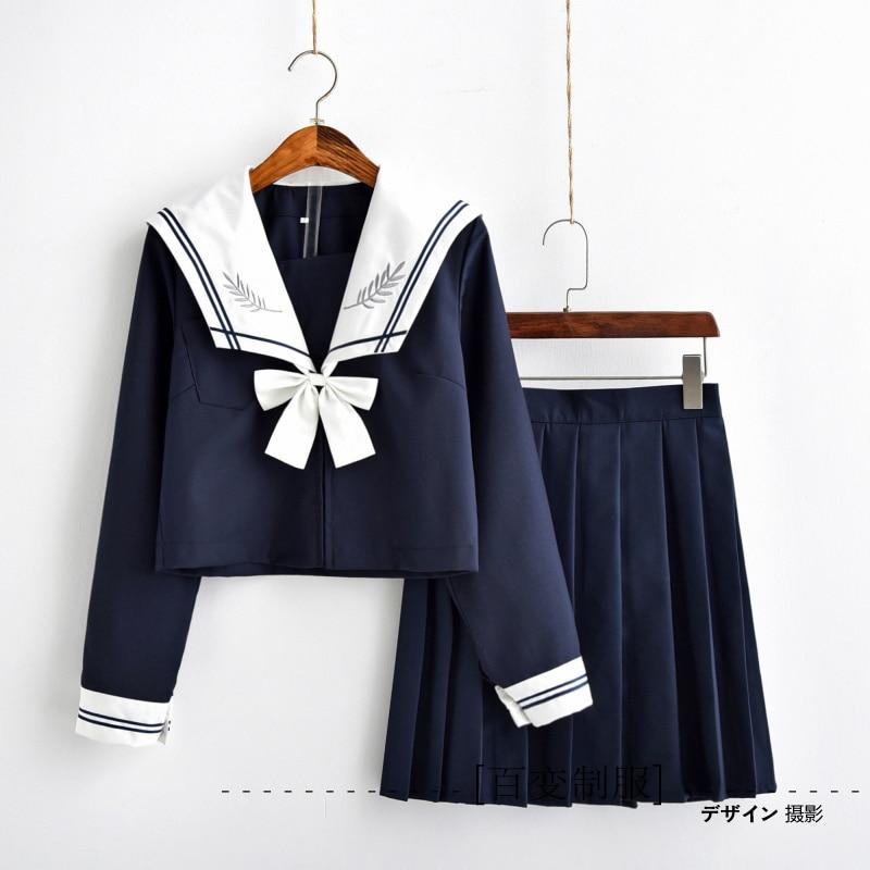 Japanese JK Uniforms Orthodox High-quality Wind Navy Sailor Suit Class Service Uniforms School Uniforms Female College Wind Suit