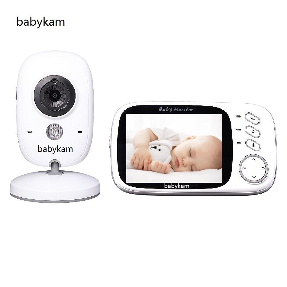 Фотография Babykam bebek telsizi wireless 3.2 inch LCD IR Night vision Intercom  Lullabies Temperature monitor fetal video bebek telsizleri