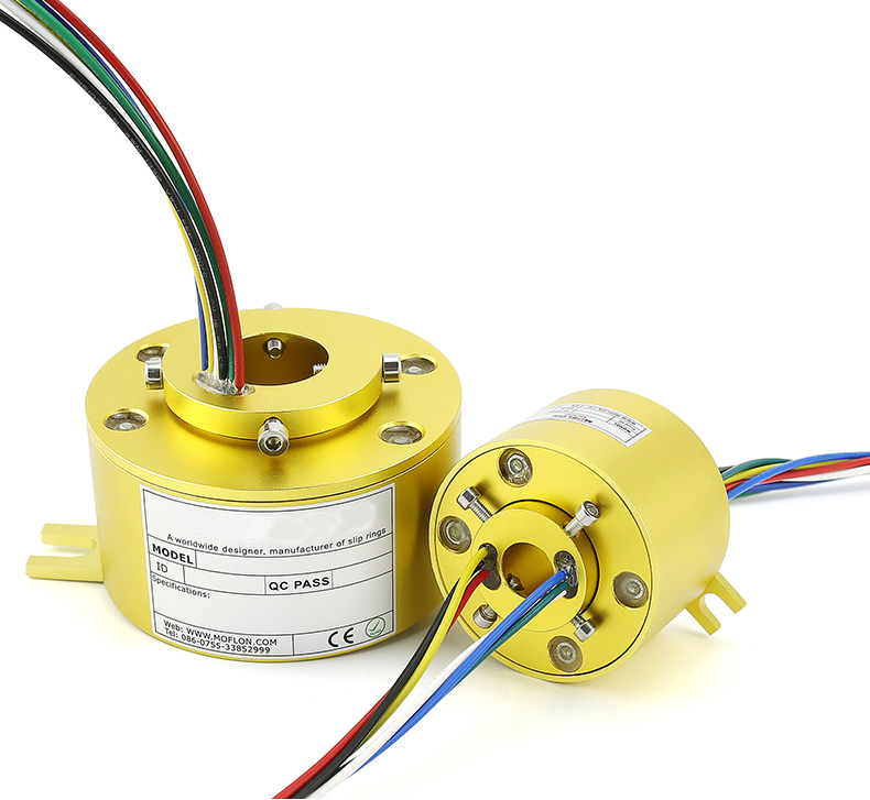 Rotary Conductive Slip Ring Hole 40mm 50mm 60mm Collector Slip Ring Rotary Conductive Slip Ring Hole 40mm 50mm 60mm Collector Slip Ring