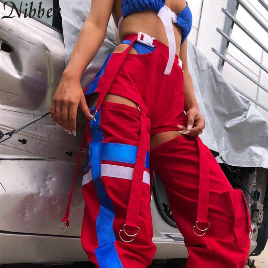 Joggingbroek Zalando.Beste Koop Nibber Vrouwen Mode Hoge Taille Side Hollow Out Broek