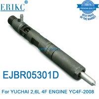 Injetor comum ejb r05301d das peças sobresselentes do trilho de erikc ejbr05301d injetor de combustível das peças de motor de automóvel f50001112100011 para yuchai