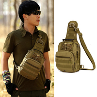 Unisex Nylon Oxford Fabric Multifunctional Men And Women Chest Shoulder Satchel Bag Tactical Sling Pack Camping