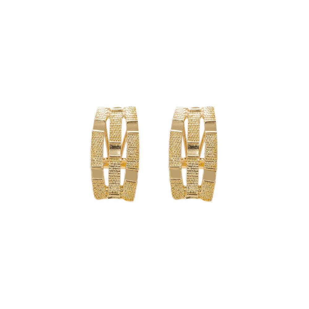 Conjunto de joyas MUKUN de Dubái de Color dorado para mujer, cuentas africanas, collar, pendientes, pulsera, anillos, Accesorios DE BODA nupciales de fiesta