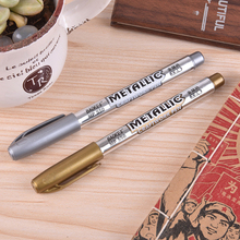 1.5mm DIY Metal Waterproof Permanent Paint Marker Pens Gold And Silver Craftwork For Drawing School Supplies