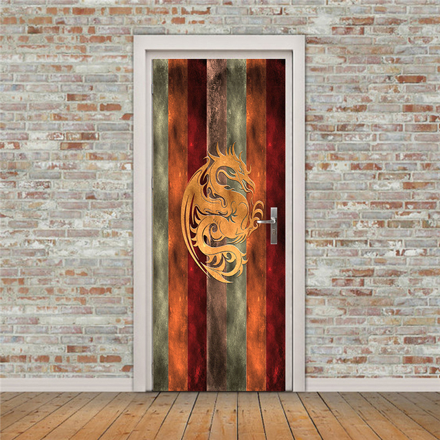 Bon Free Shipping 3D Dragon Version Door Wall Stickers DIY Mural Bedroom Home  Decor Poster PVC Waterproof