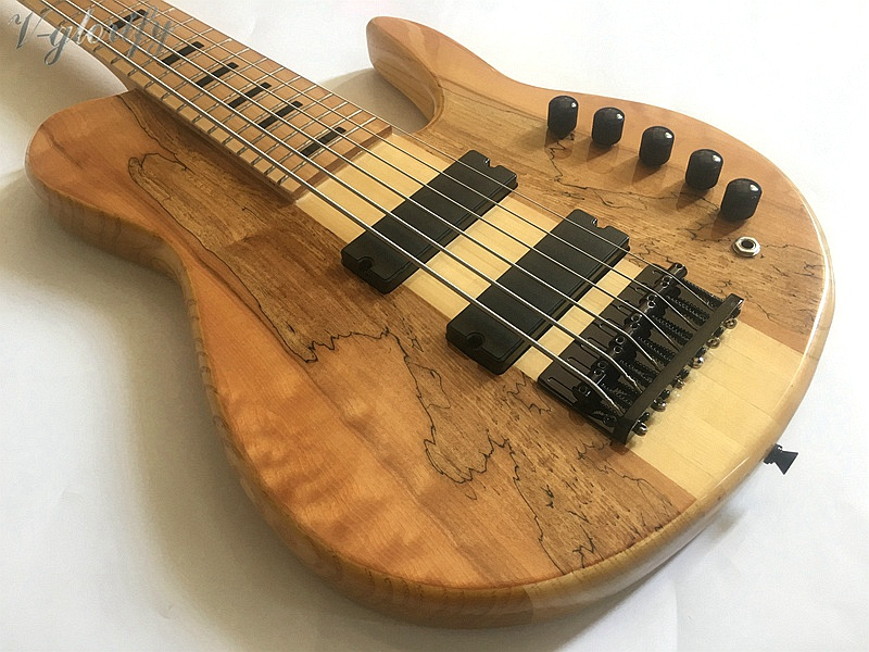good quality 6 string active neck through bass guitar цена