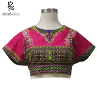 New 2016 African Style Top Summer Fashion Africa Women Sexy Short Set African Traditional Dresses For